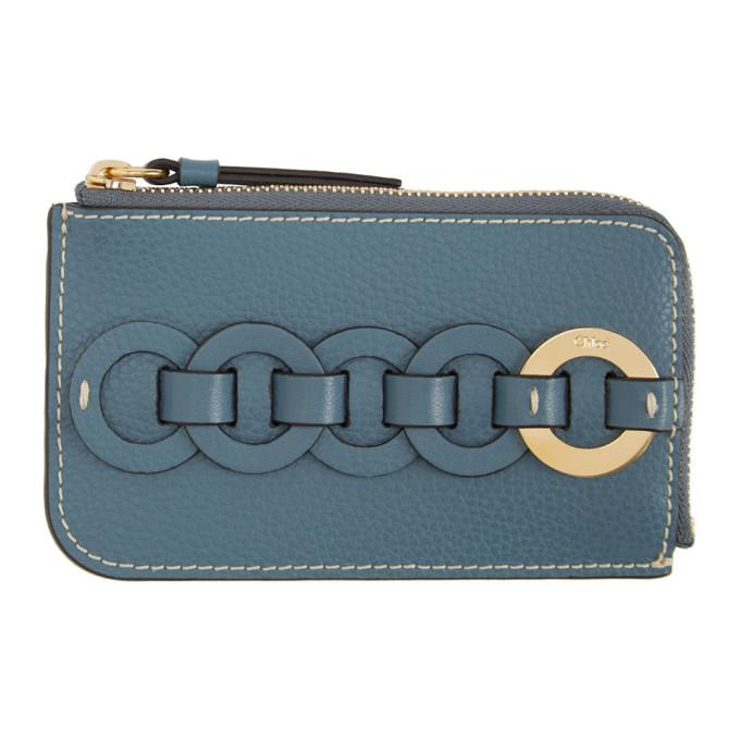 Chloé Cardholders CHLOE BLUE SMALL DARRYL CARD HOLDER