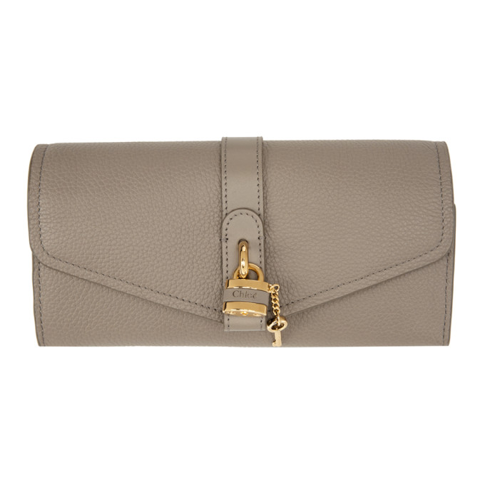 Chloé CHLOE GREY LONG ABY WALLET