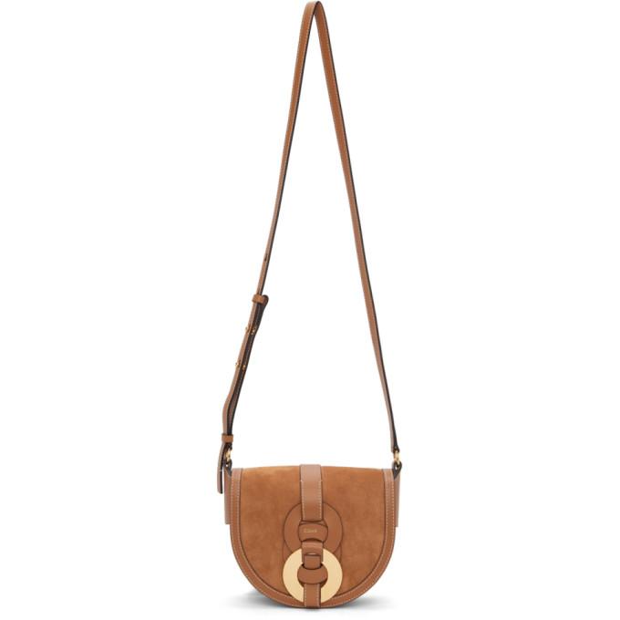 Chloé CHLOE BROWN SUEDE SMALL DARRYL SADDLE BAG