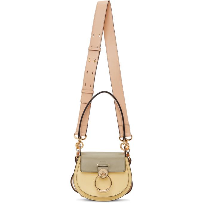 Chloé CHLOE YELLOW AND GREEN SMALL TESS BAG