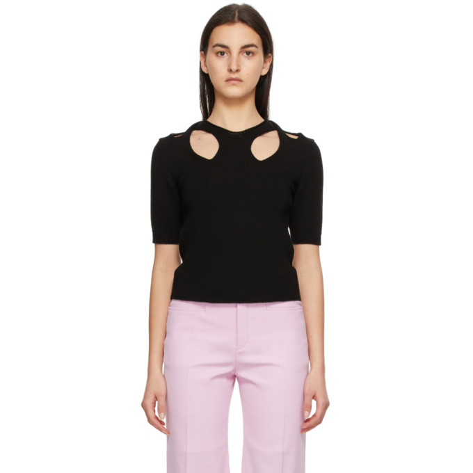 Chloé Cottons CHLOE BLACK TWISTED SWEATER