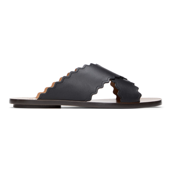 Chloé CHLOE BLACK LAUREN SLIDES