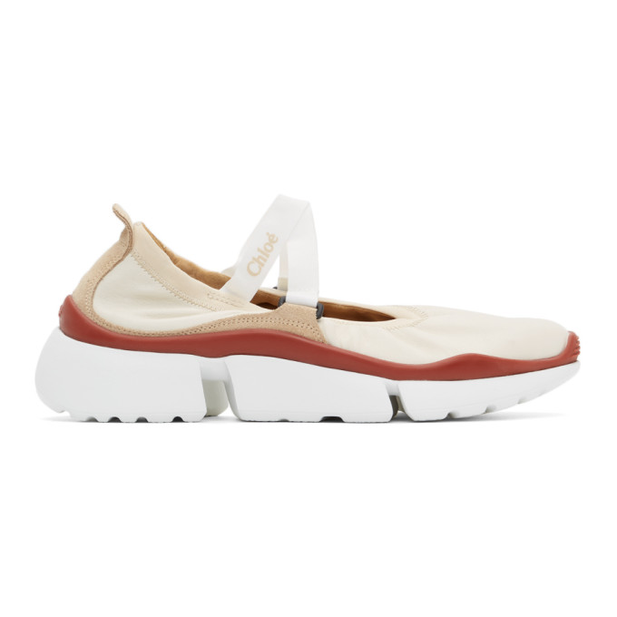 Chloé CHLOE OFF-WHITE SONNIE BALLET SNEAKERS