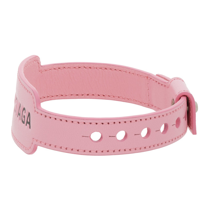 BALENCIAGA Bracelets BALENCIAGA PINK LEATHER CASH BRACELET