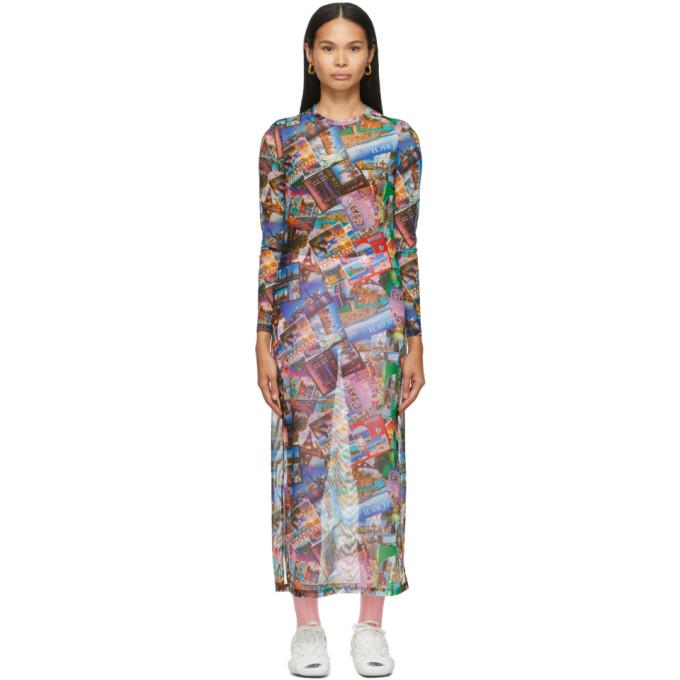 Balenciaga Dresses BALENCIAGA MULTICOLOR POSTCARD DRESS