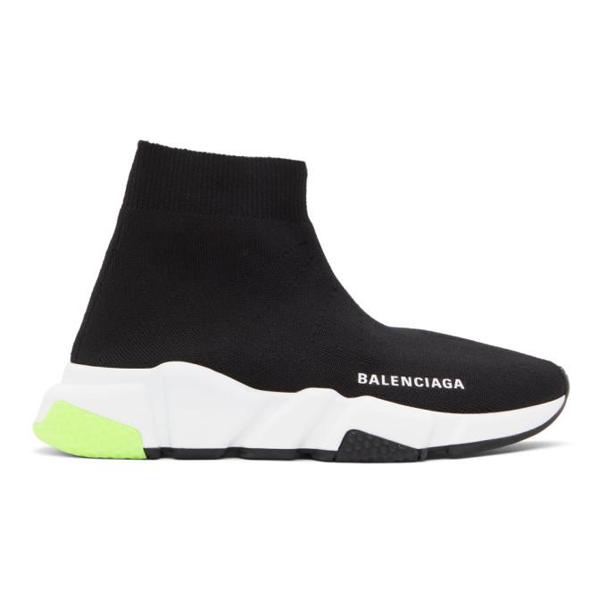 Balenciaga BALENCIAGA BLACK AND YELLOW SPEED SNEAKERS
