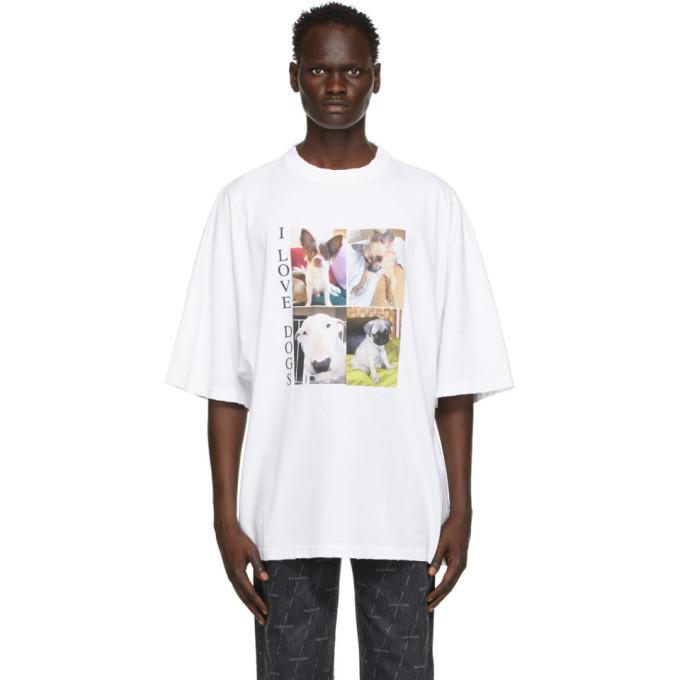Balenciaga BALENCIAGA WHITE XL I LOVE DOGS T-SHIRT