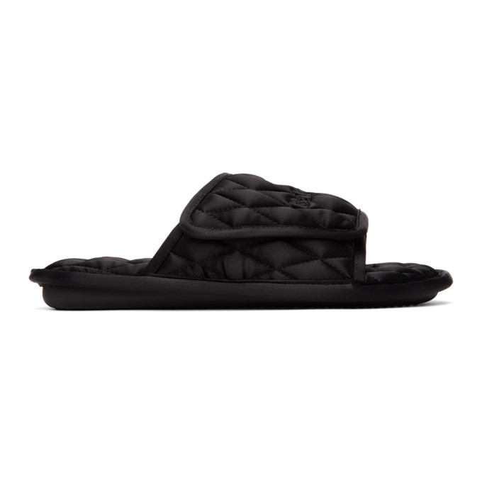 Balenciaga Black Quilted Home Sandals In 1000 Black