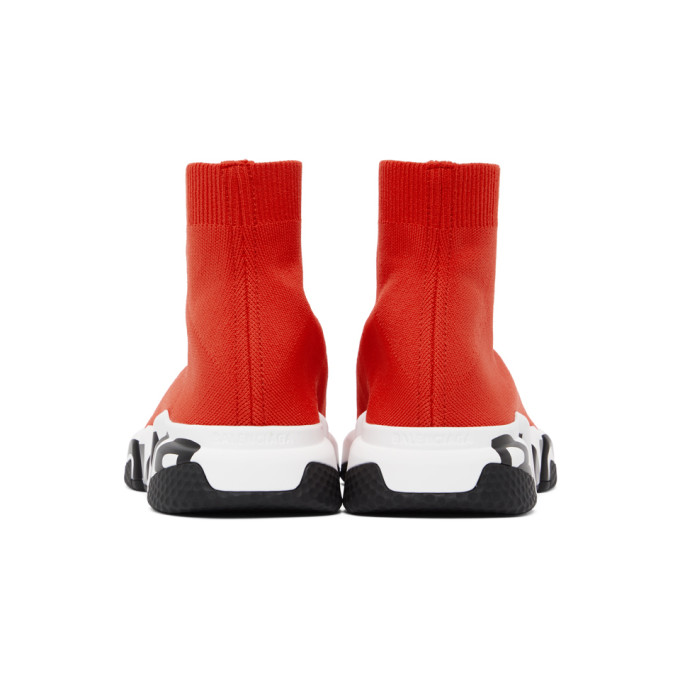 BALENCIAGA Sneakers BALENCIAGA RED GRAFFITI SOLE SPEED SNEAKERS