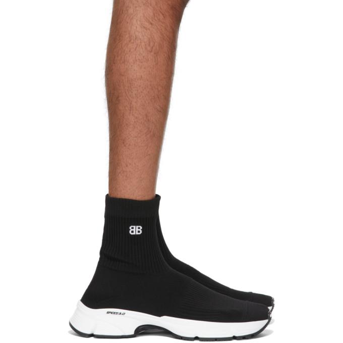 Balenciaga Sneakers BALENCIAGA BLACK AND WHITE SPEED 3.0 SNEAKERS