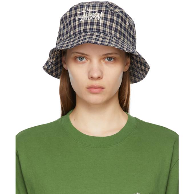 Stussy Fedoras STUSSY MULTICOLOR BASIC PLAID BUCKET HAT