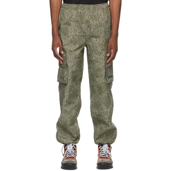 Stussy Pants STUSSY GREEN APEX CARGO PANTS