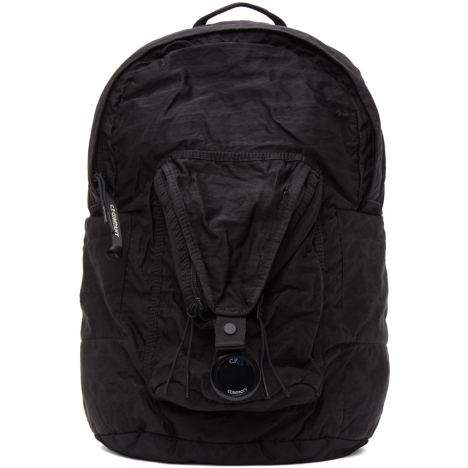 C.p. Company Backpacks C.P. COMPANY BLACK NYLON B GARMENT-DYED BACKPACK