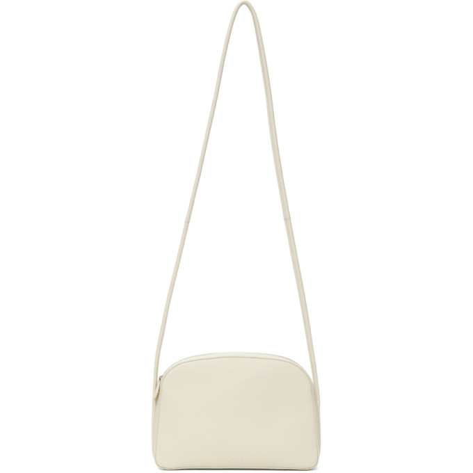 The Row THE ROW OFF-WHITE LEATHER MIGNON SHOULDER BAG