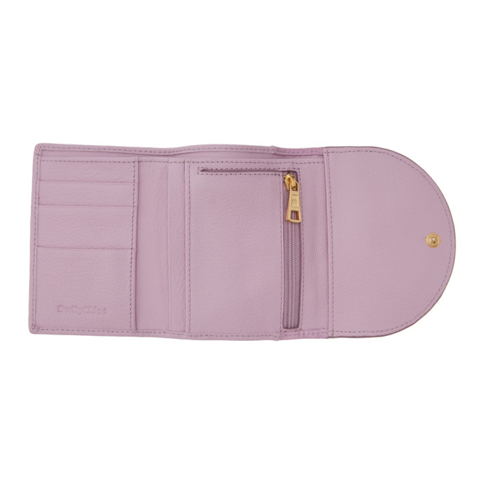 SEE BY CHLOÉ Wallets SEE BY CHLOE PURPLE SUEDE COMPACT HANA WALLET