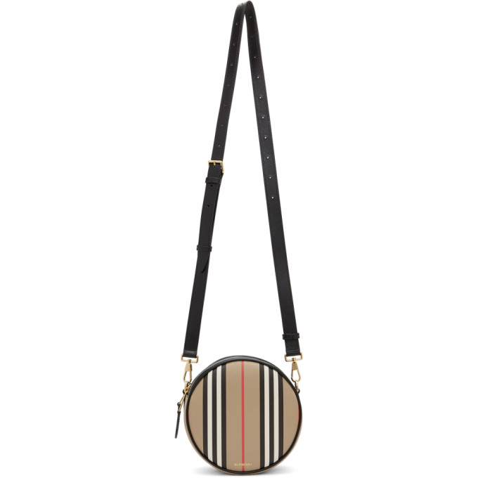 Burberry Women's Leather Cross-body Messenger Shoulder Bag Louise In Archive Beige