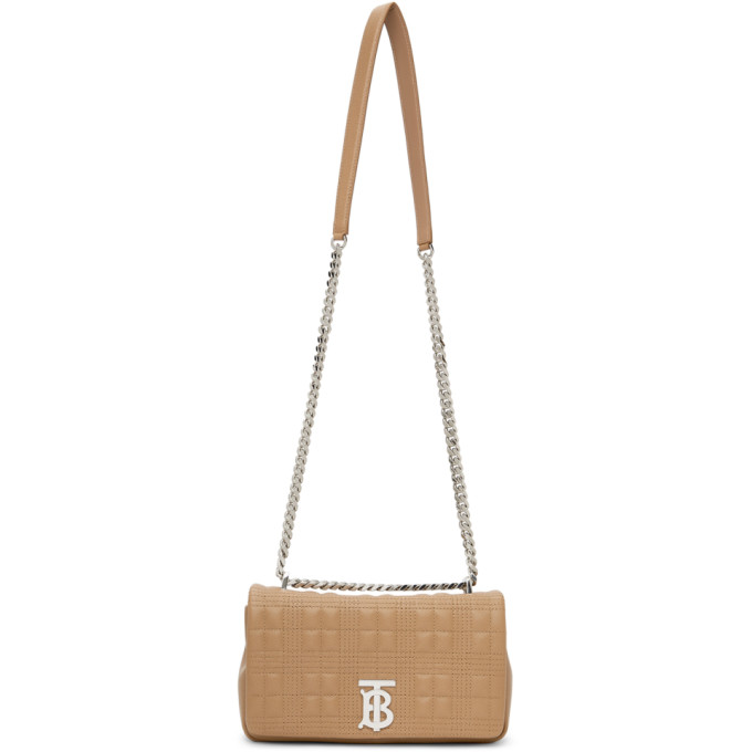 Burberry Small Tb Soft Crossbody Bag, Camel