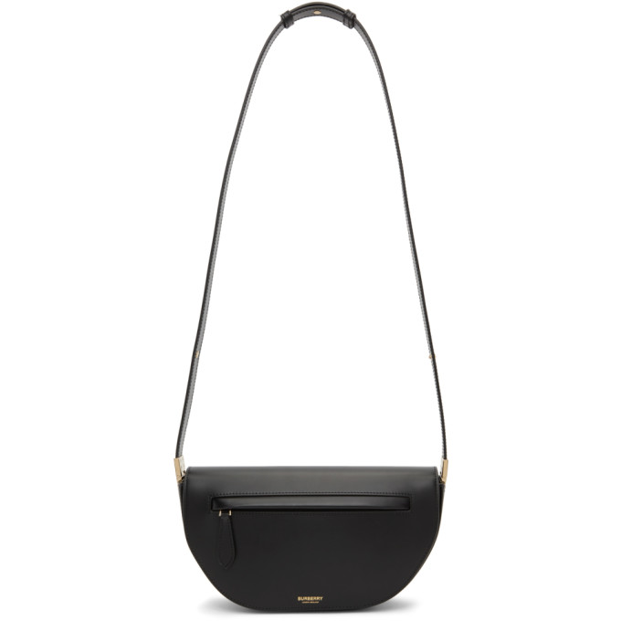 Burberry Olympia Small Smooth Leather Crossbody Bag In Black