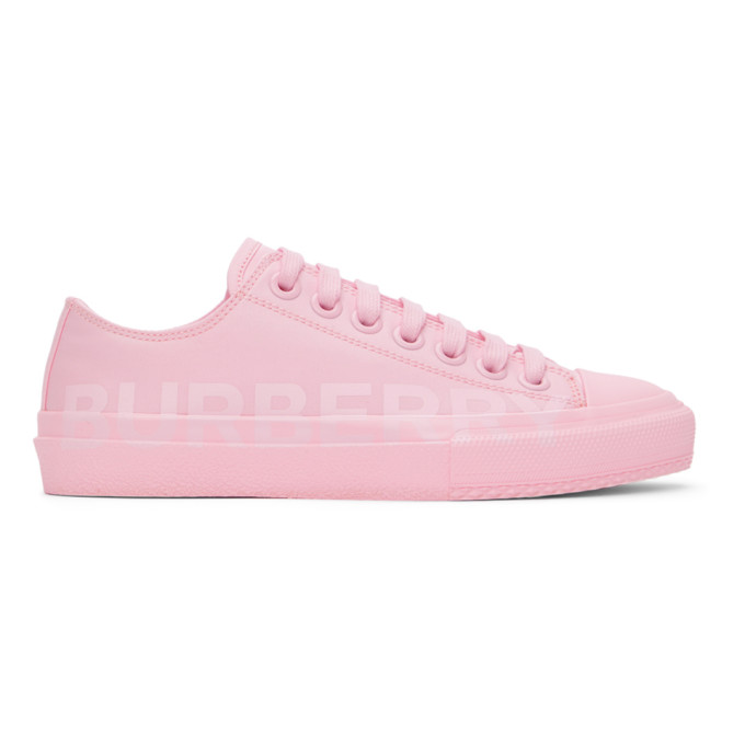 Burberry Shoes BURBERRY PINK LARKHALL SNEAKERS