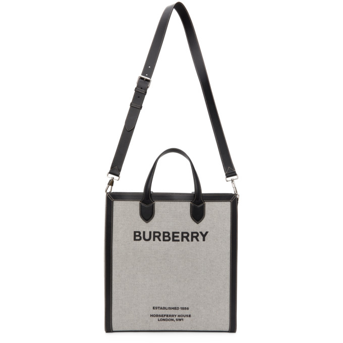 Burberry Leathers BURBERRY GREY HORSEFERRY KANE TOTE