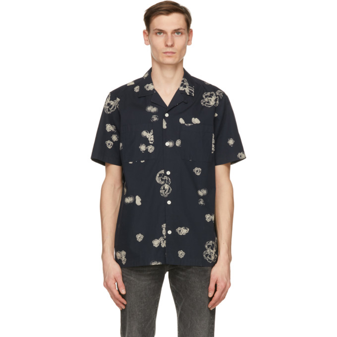 Wood Wood WOOD WOOD NAVY GRAPHIC BRANDON SHORT SLEEVE SHIRT