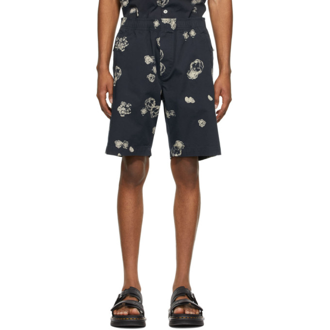 Wood Wood WOOD WOOD BLUE ALFRED GRAPHIC SHORTS