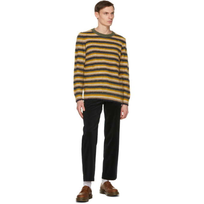 WOOD WOOD Sweaters WOOD WOOD YELLOW STRIPED JOHN SWEATER