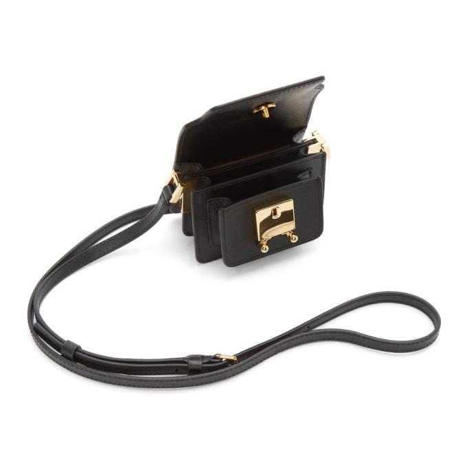 MARNI Bags MARNI BLACK SAFFIANO MICRO TRUNK BAG