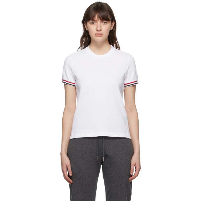 Thom Browne SSENSE 独家线上发售白色 RWB Stripe T 恤