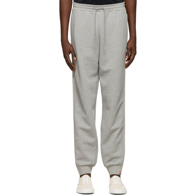 Thom Browne Grey RWB Stripe Loopback Sweatpants  - buy with discount