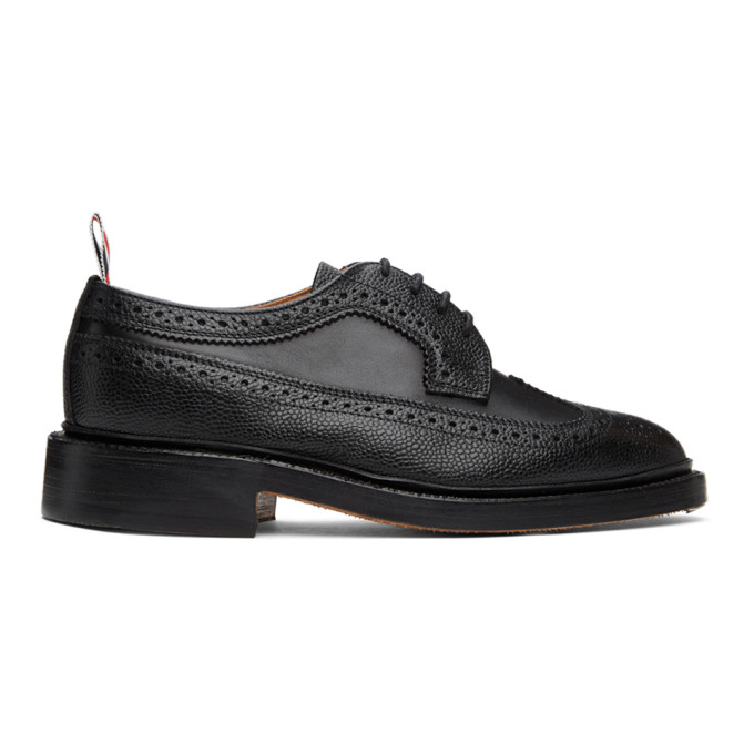 Thom Browne THOM BROWNE BLACK PEBBLE LONGWING BROGUES