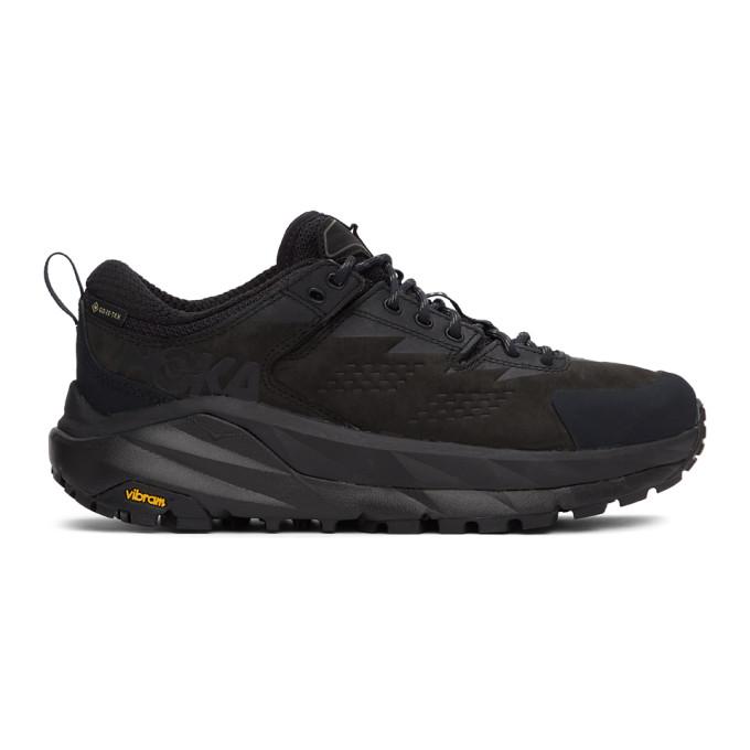Hoka One One 33mm Kaha Low Gtx Running Sneakers In Black/char