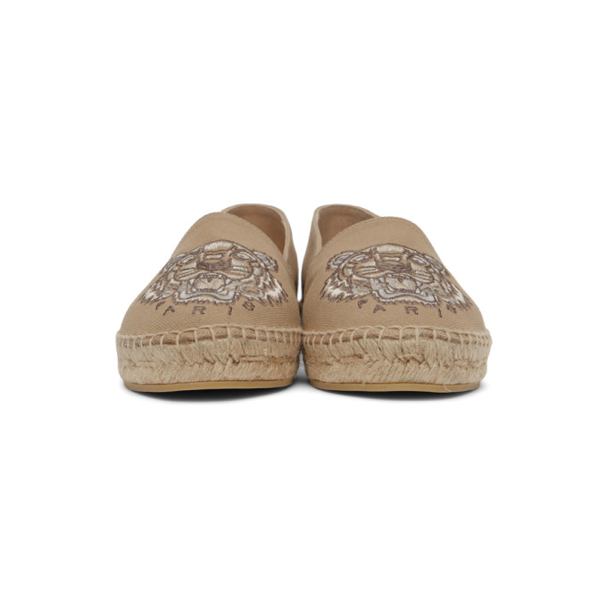 KENZO Canvases KENZO BEIGE CLASSIC TIGER ESPADRILLES
