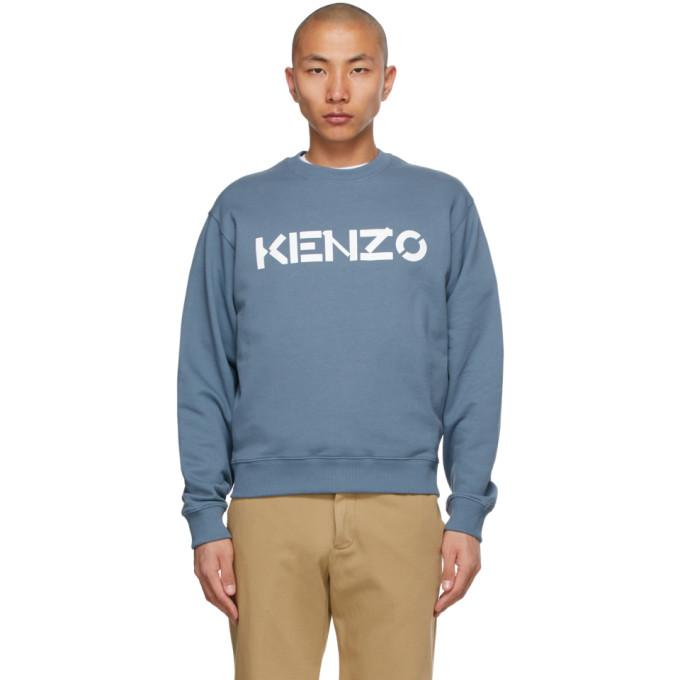 KENZO KENZO BLUE LOGO SWEATSHIRT