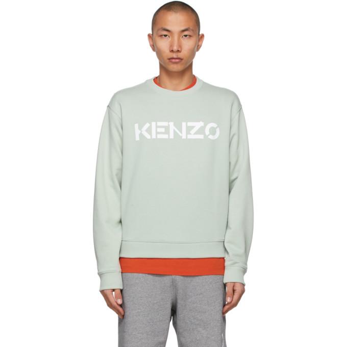 Kenzo Cottons KENZO GREEN LOGO SWEATSHIRT