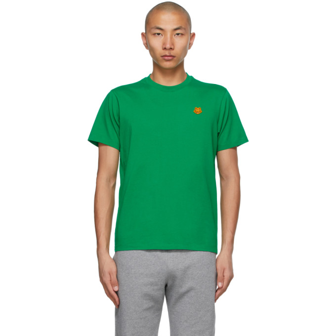 Kenzo KENZO GREEN TIGER CREST T-SHIRT