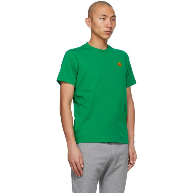 KENZO Cottons KENZO GREEN TIGER CREST T-SHIRT