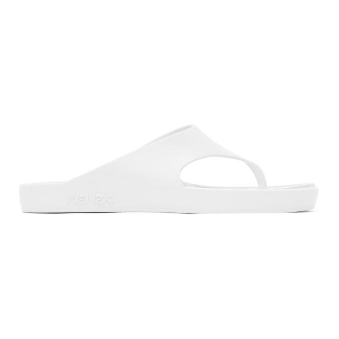 Kenzo KENZO WHITE K-BEACH FLIP FLOPS