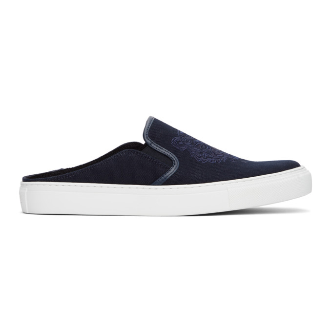 Kenzo KENZO NAVY TIGER K-SKATE SLIP-ON SNEAKERS