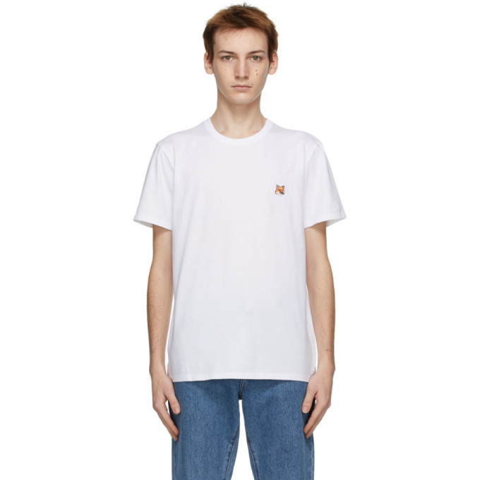 Maison Kitsune ホワイト Fox Head T シャツ