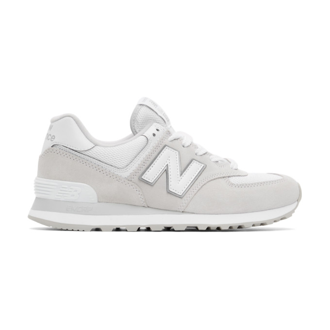 New Balance NEW BALANCE GREY AND WHITE 574 CORE SNEAKERS