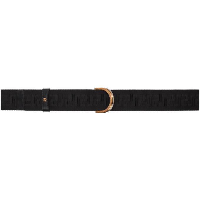 Versace ブラック Ribbon Greca ベルト