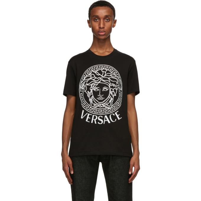 Versace SSENSE 独家发售黑色 Medusa T 恤
