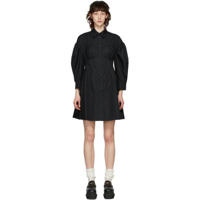 Simone Rocha SIMONE ROCHA BLACK CORSET SHIRT DRESS