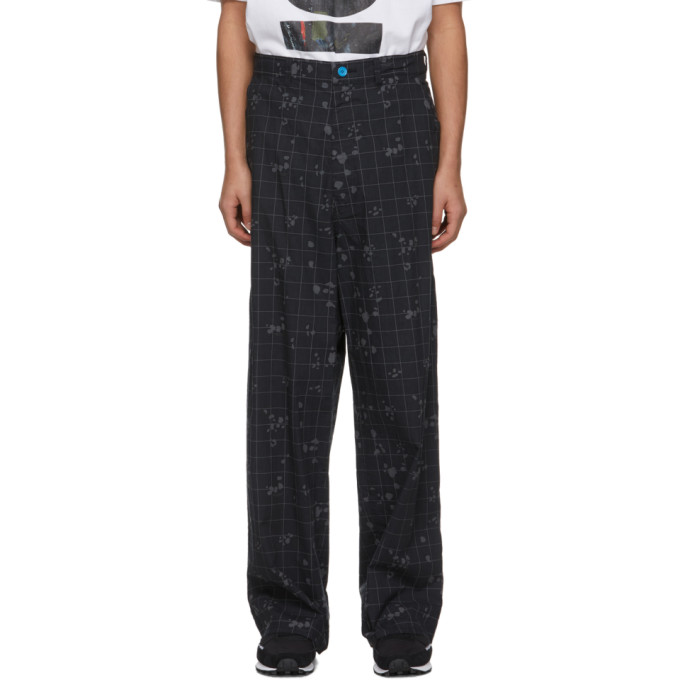 Undercover Cottons UNDERCOVER BLACK COTTON CHECK TROUSERS