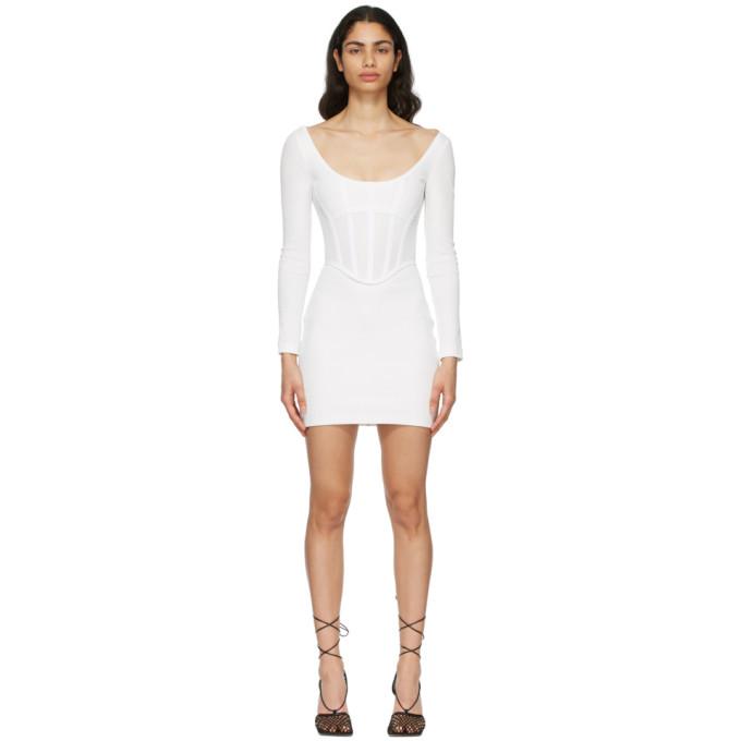 Dion Lee 灰白色胸衣连衣裙