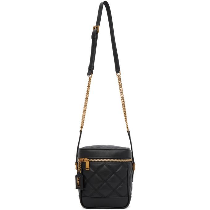 Saint Laurent '80s Vanity Case Matelasse Leather Shoulder Bag In 1000 Black