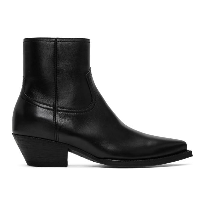Saint Laurent 黑色 Lukas 踝靴