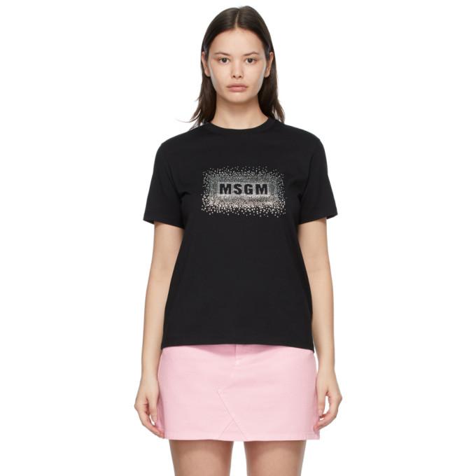MSGM Sparkly ロゴ T シャツ