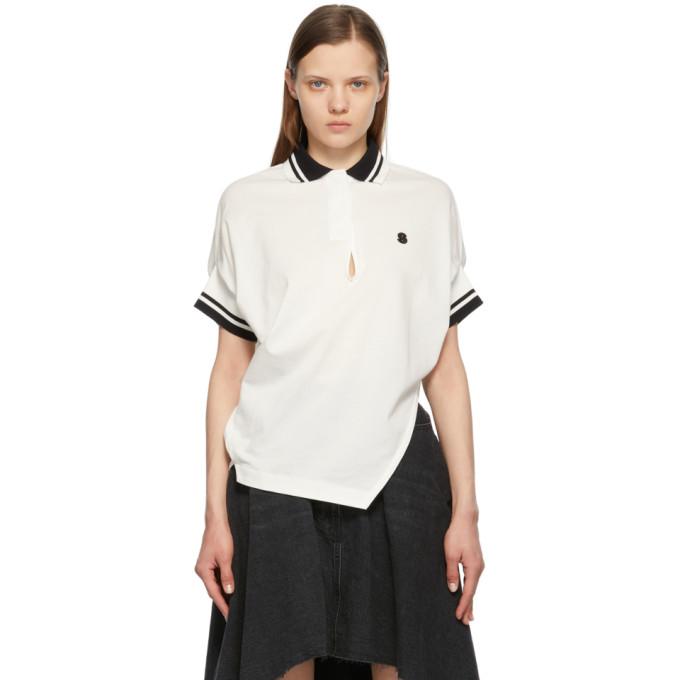Sacai Shirts SACAI WHITE LOGO POLO